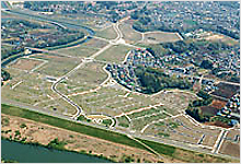 Urban development with super levees
